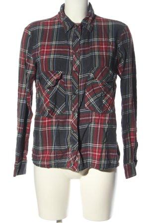 Zara Woman Koszula w kratę jasnoszary-czerwony Na całej powierzchni
