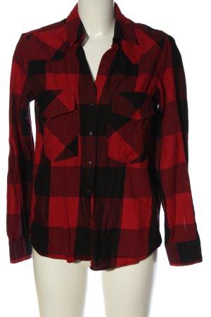 Zara Woman Holzfällerhemd schwarz-rot Karomuster Casual-Look
