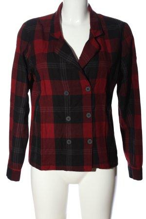 Zara Woman Holzfällerhemd rot-schwarz Karomuster Casual-Look