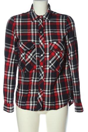 Zara Woman Holzfällerhemd Allover-Druck Casual-Look