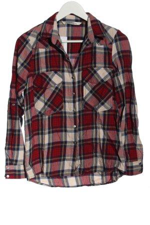 Zara Woman Holzfällerhemd rot-weiß Allover-Druck Casual-Look