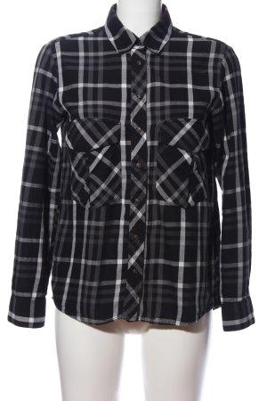 Zara Woman Koszula w kratę czarny-jasnoszary Na całej powierzchni