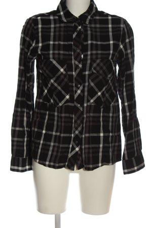 Zara Woman Holzfällerhemd schwarz-weiß Karomuster Casual-Look