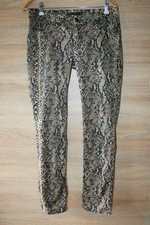 Zara Woman pantalón de cintura baja negro-beige