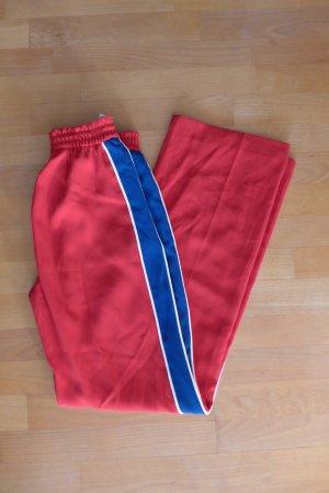 Zara Woman Hose sporty gerade rot blau Streifen Gr. XS 34
