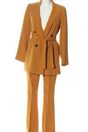 Zara Woman Hosenanzug hellorange Business-Look