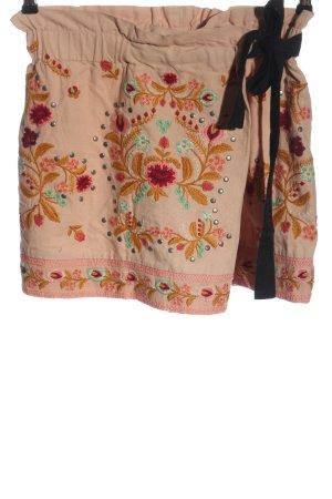 Zara Woman Falda pantalón estampado floral look casual