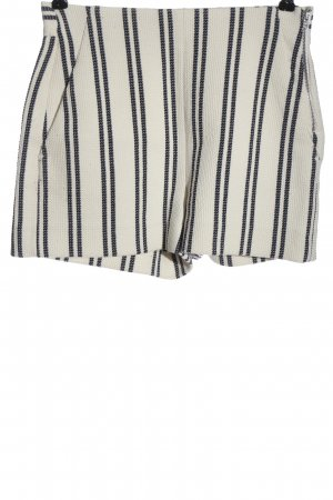 Zara Woman Hot Pants natural white-black striped pattern casual look