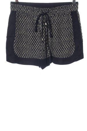 Zara Woman Hot Pants schwarz-wollweiß Casual-Look