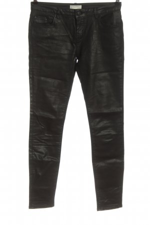 Zara Woman Jeansy biodrówki czarny W stylu casual