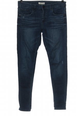 Zara Woman Hüftjeans blau Casual-Look
