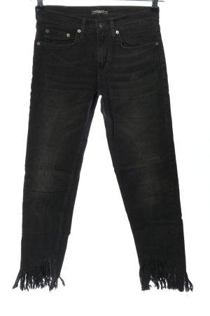 Zara Woman Hüftjeans schwarz Casual-Look