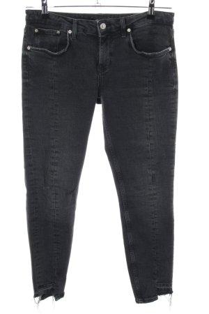 Zara Woman Jeans vita bassa nero stile casual