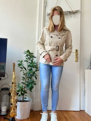 Zara Woman Jacke Gr.L Cotton hellbeige Übergang Frühling Caban