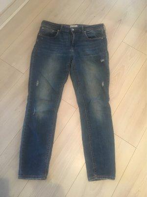 Zara Woman Jeansy ze stretchu niebieski