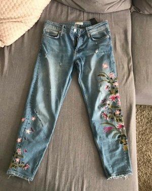 Zara Woman Jeans, Blumenmuster, 36