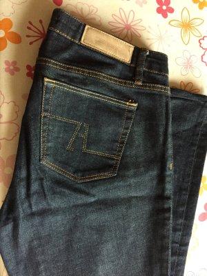 Zara Woman Jeansy o kroju boot cut ciemnoniebieski-stalowy niebieski Bawełna