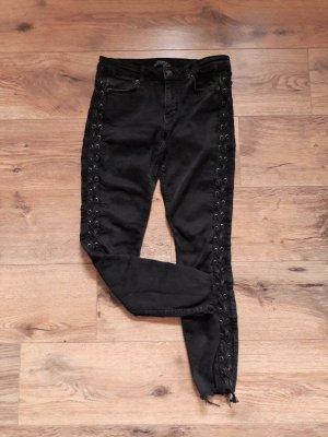 Zara Woman Jeans grau schwarz Gr. 40