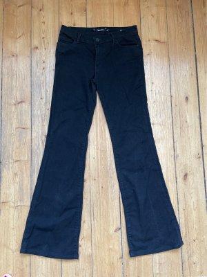 Zara Woman Jeansy o kroju boot cut czarny Bawełna