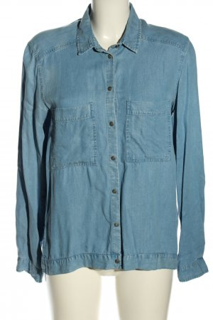 Zara Woman Jeanshemd blau Casual-Look