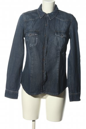 Zara Woman Denim Shirt blue casual look