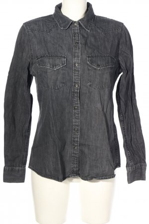 Zara Woman Jeanshemd hellgrau Casual-Look