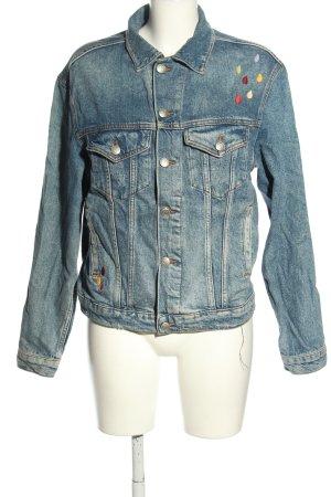 Zara Woman Jeansjacke blau Casual-Look