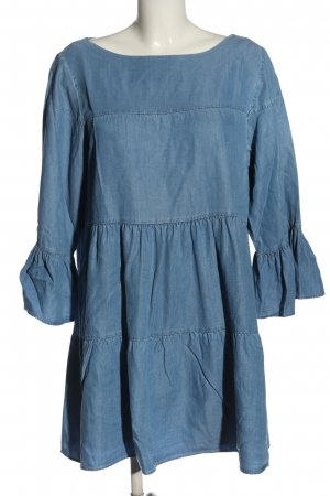 Zara Woman Jeanskleid blau Casual-Look