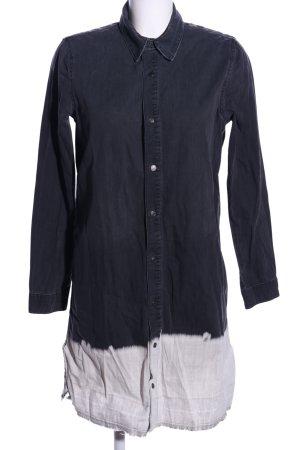 Zara Woman Jeanskleid blau-weiß Farbverlauf Casual-Look