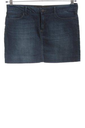 Zara Woman Jeansrock blau Casual-Look