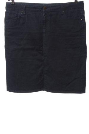 Zara Woman Jeansrock blau Streifenmuster Casual-Look