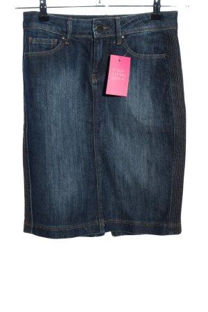 Zara Woman Jeansrock schwarz Casual-Look
