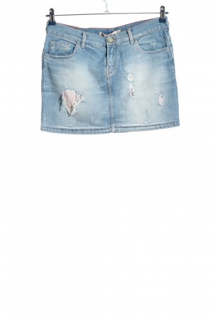 Zara Woman Jeansrock blau Casual-Look