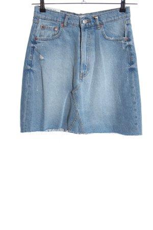 Zara Woman Jupe en jeans bleu style décontracté