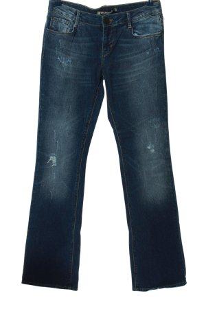 Zara Woman Jeansschlaghose blau Casual-Look