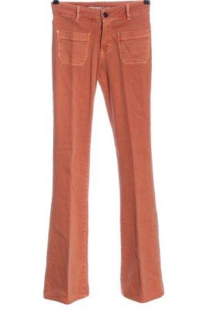 Zara Woman Jeans a zampa d'elefante arancione chiaro stile casual