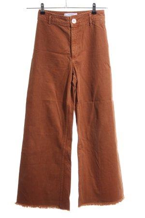Zara Woman Jeansschlaghose braun Casual-Look