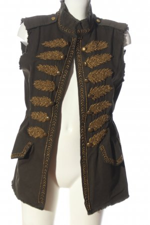 Zara Woman Denim Vest brown-gold-colored casual look