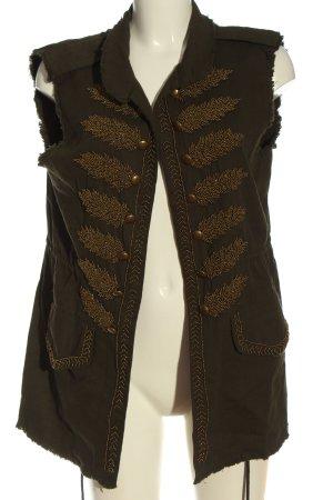 Zara Woman Denim Vest khaki casual look