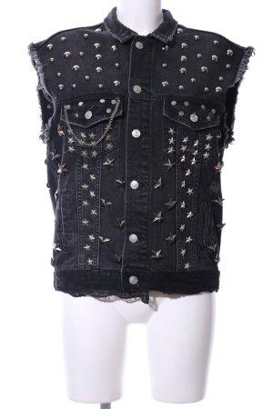 Zara Woman Jeansweste schwarz extravaganter Stil