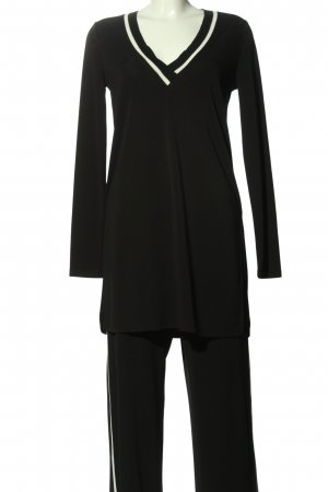 Zara Woman Twin Set tipo suéter negro look casual
