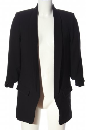 Zara Woman Jerseyblazer schwarz Business-Look