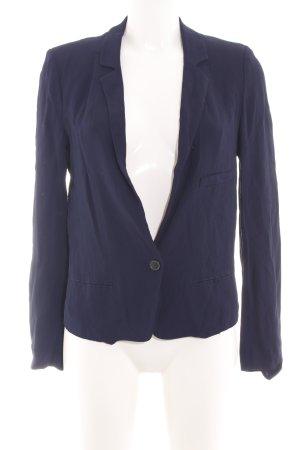 Zara Woman Jerseyblazer blau Business-Look