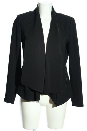 Zara Woman Jerseyblazer schwarz Business-Look
