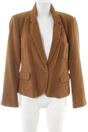 Zara Woman Jerseyblazer bronzefarben Business-Look