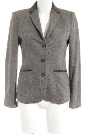 Zara Woman Jerseyblazer hellgrau-schwarz meliert Business-Look