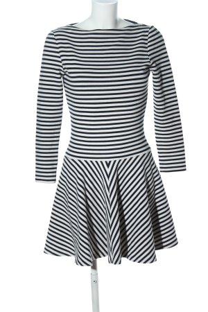 Zara Woman Jerseykleid schwarz-weiß Streifenmuster Casual-Look