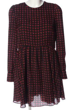 Zara Woman Jumpsuit schwarz-rot Allover-Druck Elegant