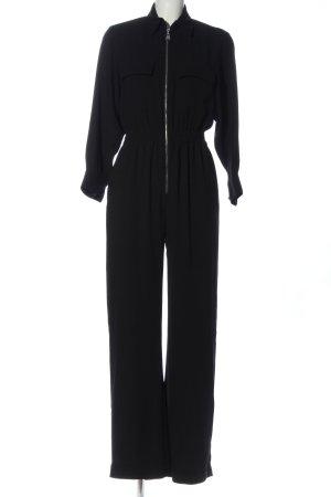 Zara Woman Jumpsuit schwarz Business-Look