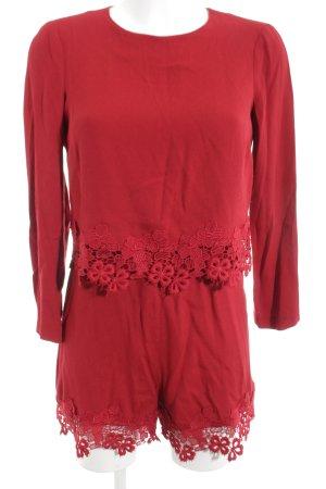 Zara Woman Jumpsuit rot Elegant